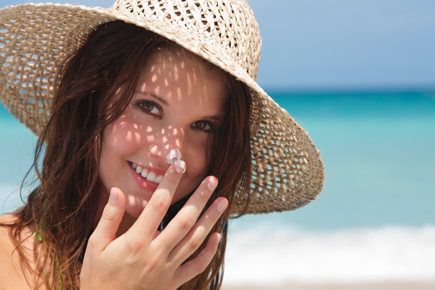 Sunscreen girl