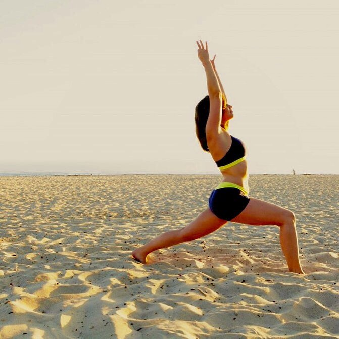 Strike a pose seaside with these 5 strengthening yoga poseshellip