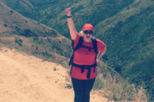 A photo from Rebel Wilson's Instagram account sharing her hiking experience at The Ranch 4.0.