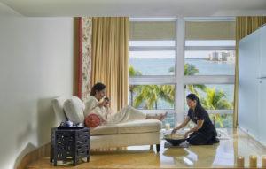 miami mandarin oriental spa suite