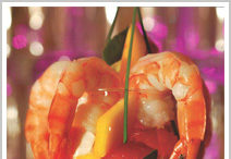 Prentiss Prawns with Mango, Papaya and Grapefruit Salad