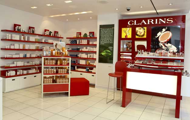 Shop and spa at clarins counters all over the country for Clarins salon
