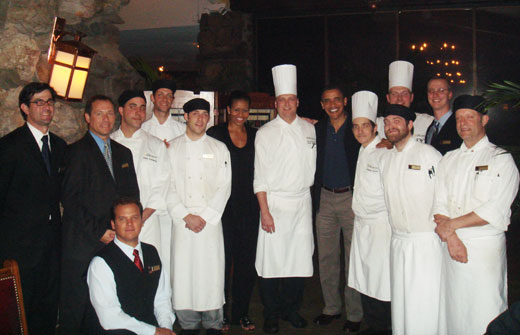 President Barack Obama and First Lady Michelle Obama with Grove Inn Resort & Spa Staff