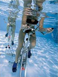 Aquabiking, photo courtesy of Hotel Le Christopher