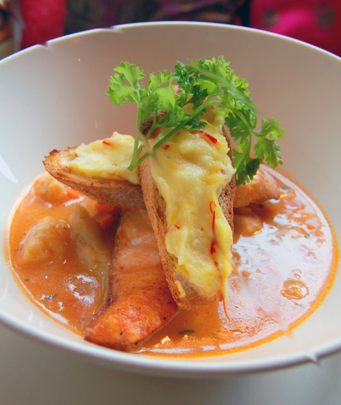Bouillabaisse photo courtesy of Bistro The Tea Set
