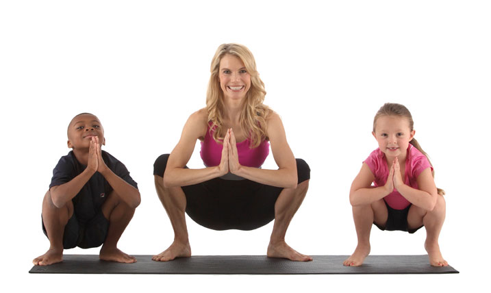 Yoga for kids, image courtesy of Kristin McGee