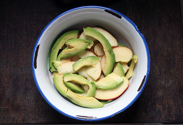 Apples and avocado, photo by Amy Sung