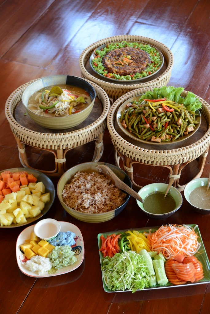 Museflower Retreat & Spa Chiang Rai vegetarianThai buffet