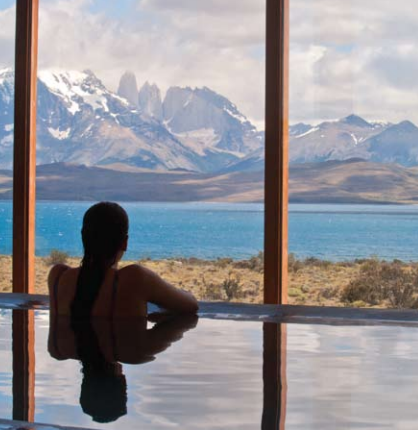 At the Tierra Patagonia Hotel (Chile) guests are offered outdoor excursions and are surrounded by nature even when indoors.