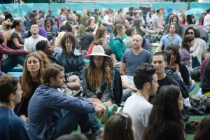 The Big Quiet, photo by Evan Norris: A brief group meditation session held in New York's Central Park, drew a crowd of over 1,000 in its first year. Five minutes of instruction were followed by 15 of stunning quiet, and then—more than an hour of dancing to soul and afro-Cuban beats.
