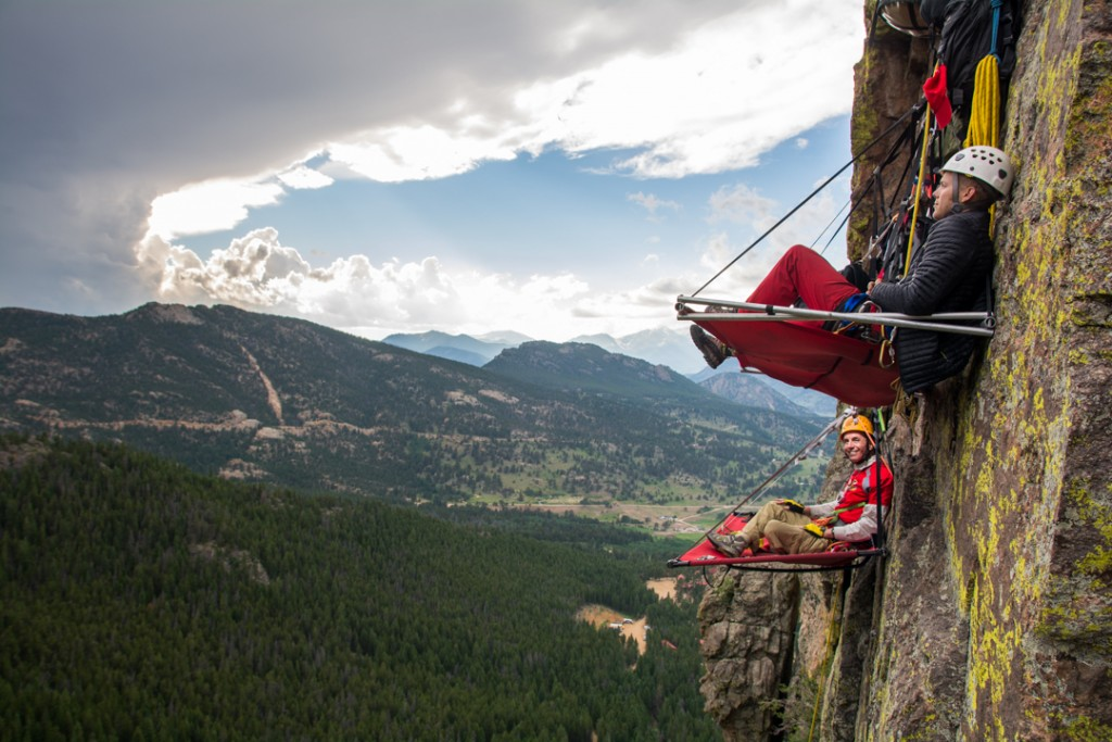 Cliff camping at Kent Mountain Adventure Center, Estes Park, Colorado, U.S.