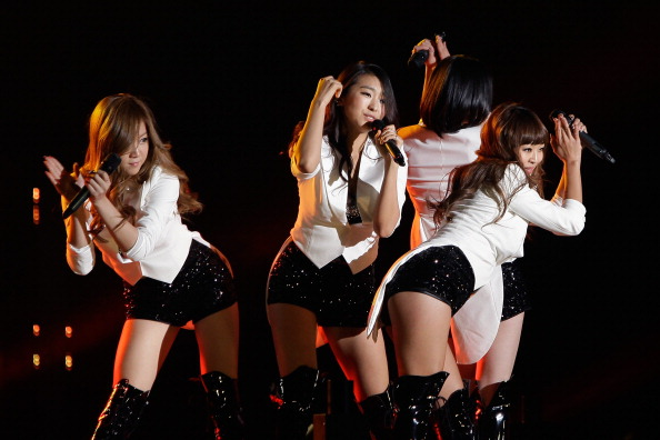 South Korean girl group SISTAR perform on stage during the 21st High1 Seoul Music Awards