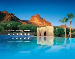 Sanctuary Resort & Spa is ranked the 2015 top resort in Arizona by Travel + Leisure Magazine. This award-winning resort is unlike any other luxury hotel in Scottsdale. An architectural wonder, the resort and its unique array of accommodations are beautifully embedded within the spectacular terrain of Camelback Mountain, providing panoramic views and a feeling of escape no other Scottsdale luxury hotel can provide. We invite you to reconnect with one another as you enjoy innovative dining created by Food Network celebrity and Executive Chef Beau MacMillan.