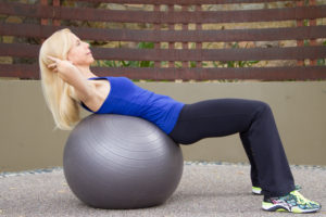 stability ball ab crunch