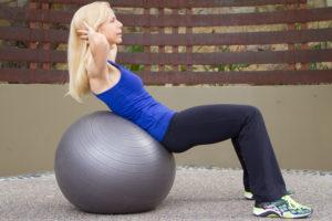 stability ball crunch