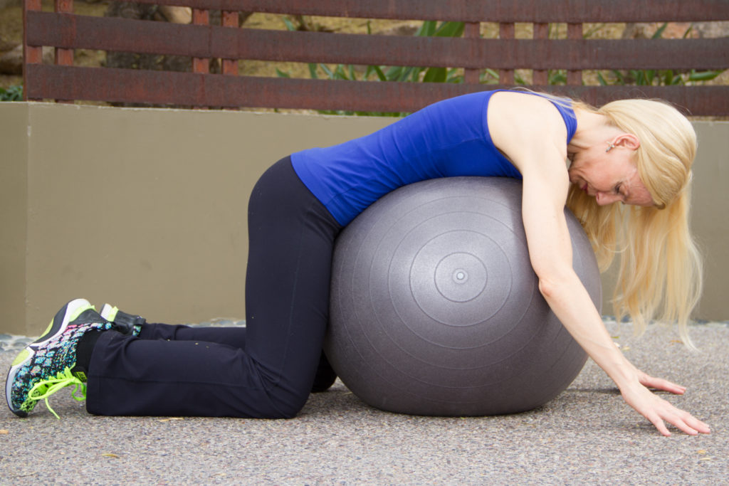 stability ball workout 5 stretch