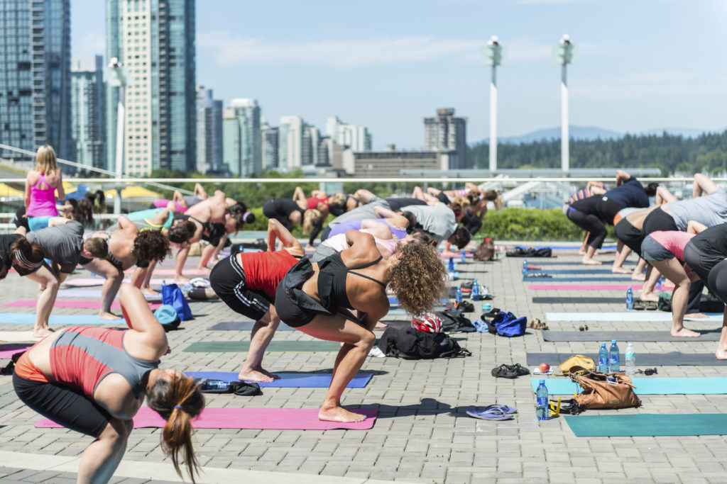 group yoga outside vancouver