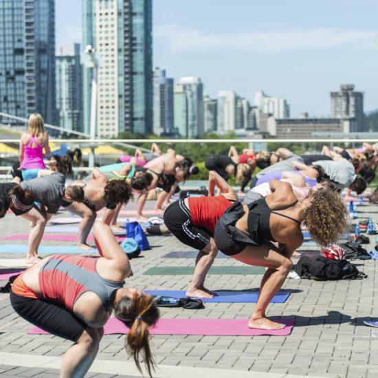group yoga outside vancouver