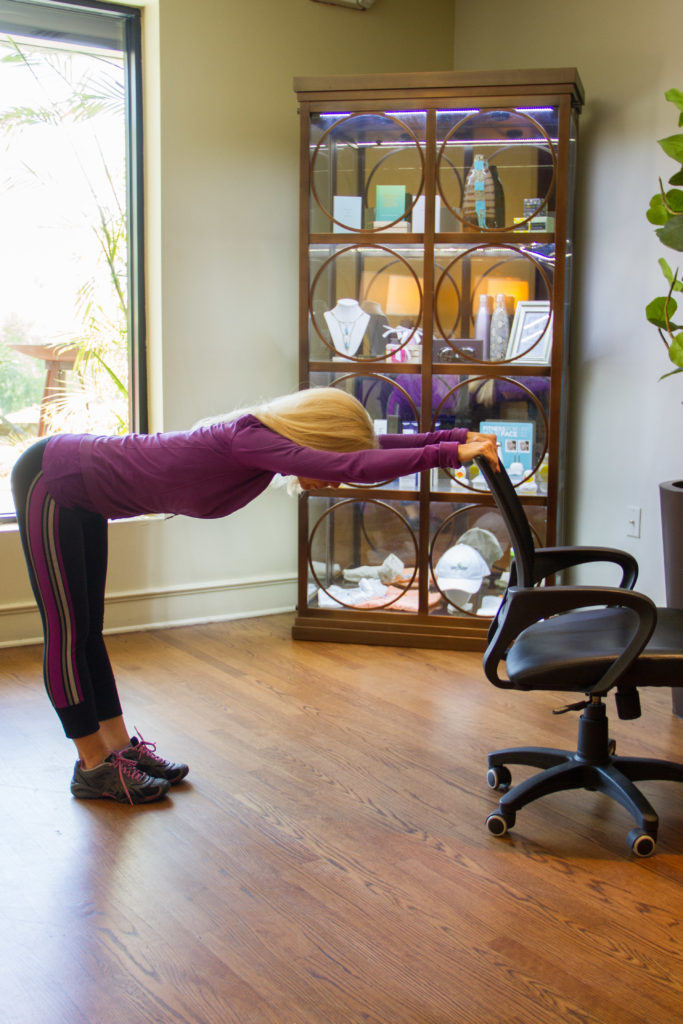 spine extension and hamstring/low back stretch b