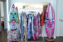 camilla swimwear, surf boards, and pillows at faen