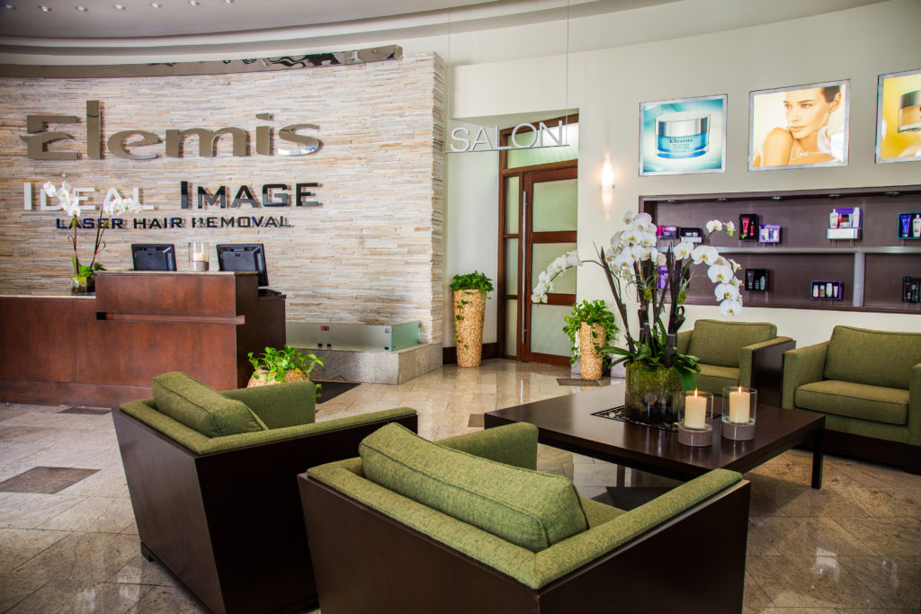elemis day spa welcome counter