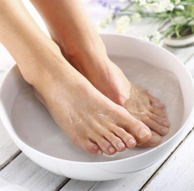 feet in a bowl