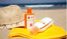 Use sun screen to ward off harmful UV rays.