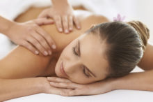 woman receiving relaxing shiatsu massage