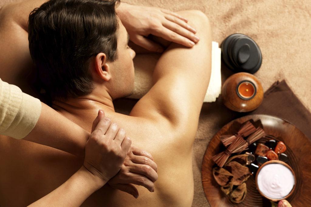 man receiving a swedish massage