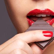 Nutrition: Aphrodisiacs - Woman Eating Chocolate