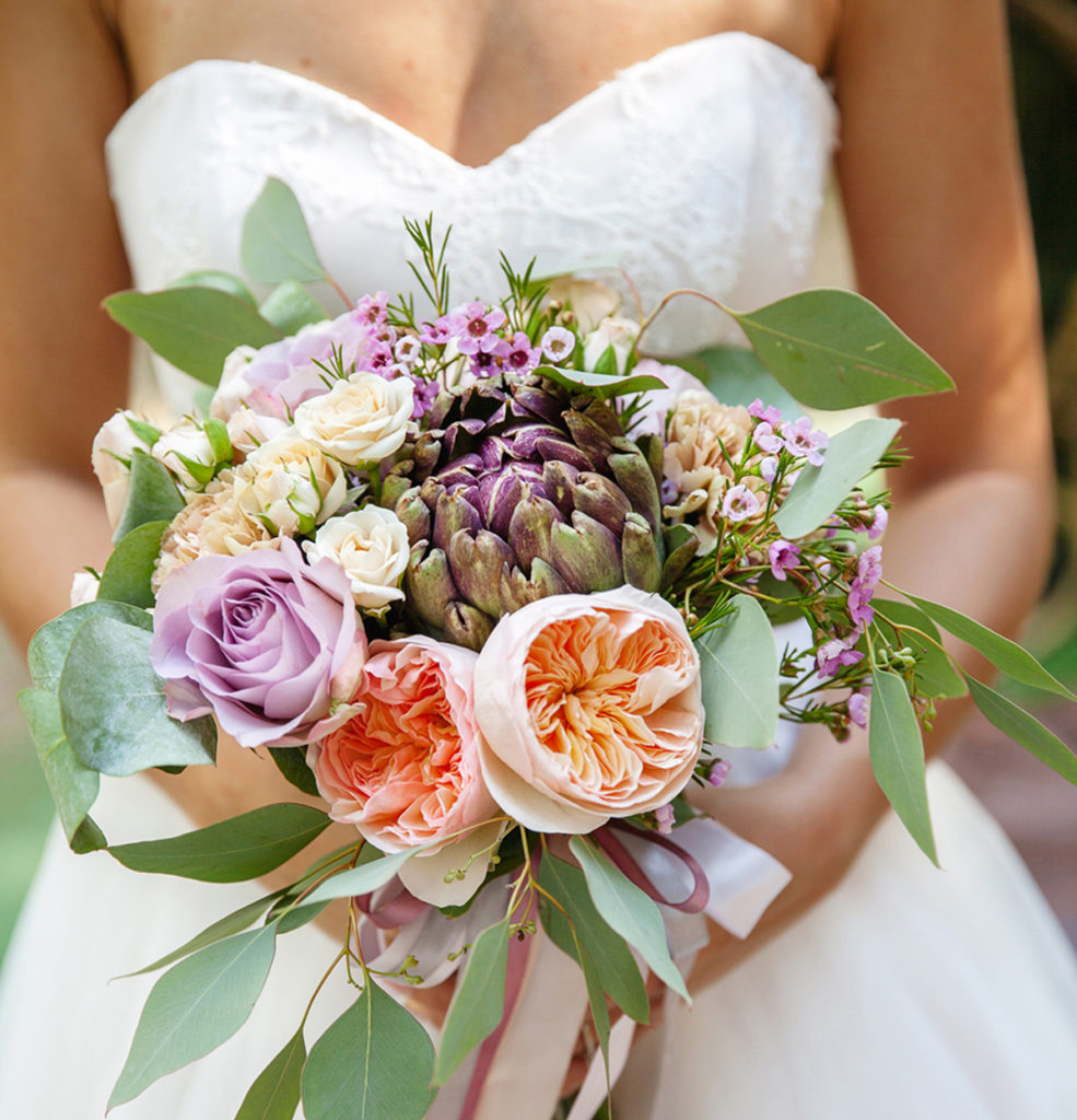 Bridal and her Bouquet