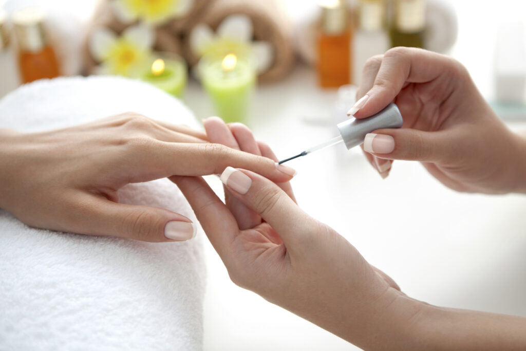 A manicure makes for a great low cost spa treatment