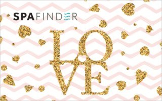 spafinder father's day gift card with the word love in gold letters