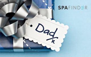 spafinder father's day gift card with a present