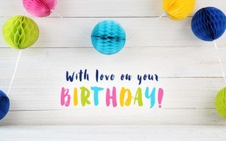 with love on your birthday gift card