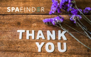 spafinder gift card that reads thank you