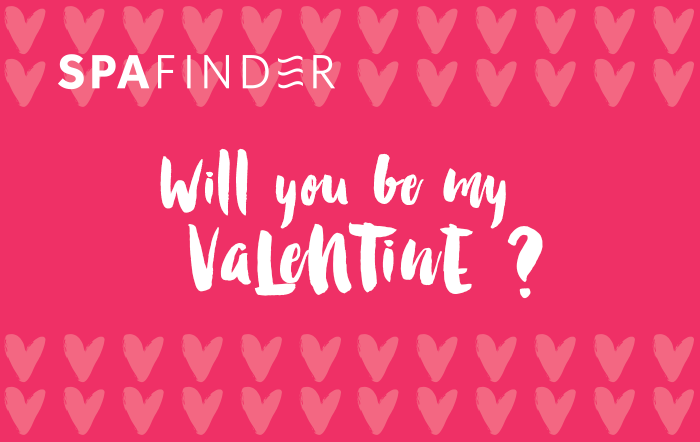 spafinder gift card that reads will you be my valentine