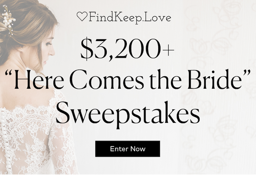 Here Comes the Bride Sweepstakes!
